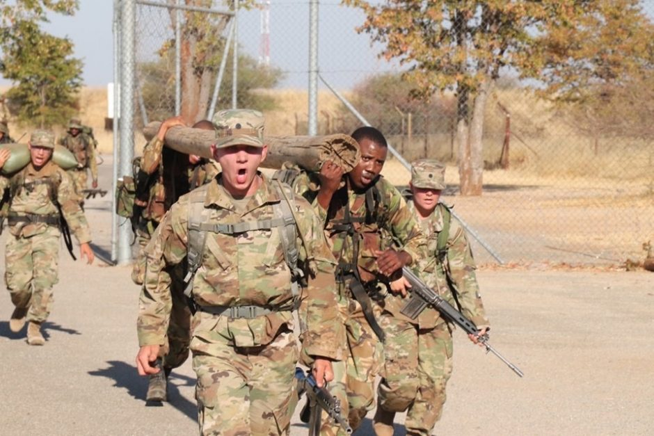 cadet trains with officer candidates