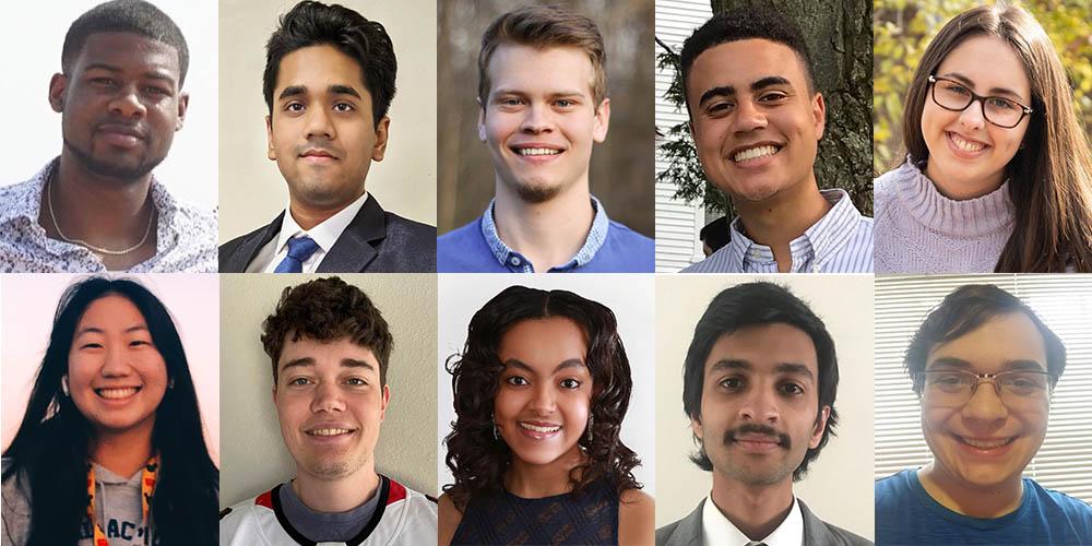 Portraits of Research Experience for Undergraduates participants.