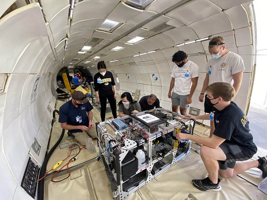Group working in G-Force One.