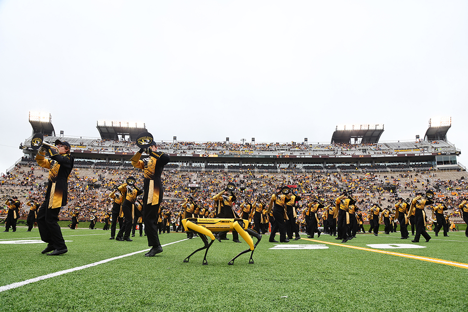 Spot marching with Marching Mizzou